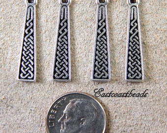 Celtic Braid Charma, TierraCast Charms, Antiqued Fine Silver Plated Lead Free Pewter, Charms, Jewelry Findings,  4 to 6 Pieces, 3112 .....