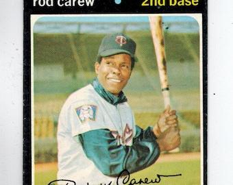 ROD CAREW BASEBALL 1971 Topps #210 Minnesota Twins Hall of Fame  Ex+