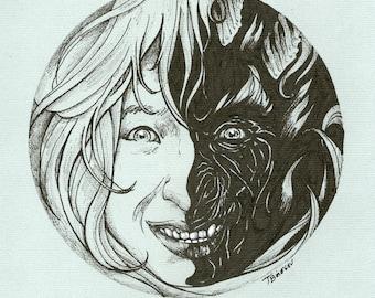 Licht und Dunkelheit der Seele - Original Illustration