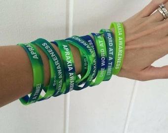 Apraxia Awareness Wristband, adult bracelet
