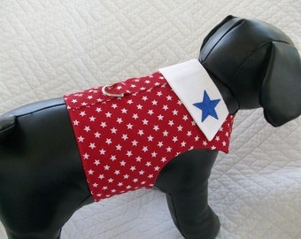 Red Star Patriotic  Harness Vest with Collar