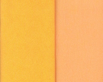 Gloria Doublette Double Sided Crepe Paper For Flower Making Made In Germany Peach And Yellow  #3408