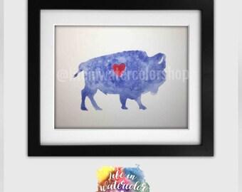 Buffalove Watercolor