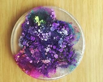 Purple resin petri