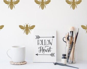 Bee Decal | Gold Bee | Napoleonic Bee Decal Set | Bee Decor