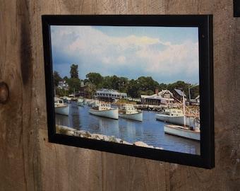 Perkins Cove Ogunquit Framed photography art print  ready to hang 18.5 X 12.5