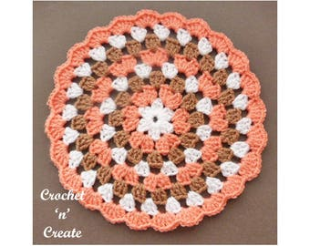 Crochet Granny Doily Crochet Pattern (DOWNLOAD) CNC100
