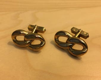 Brass Chain Link Cufflinks by Swank c1960s