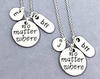 Best friends necklace, bff set of 2, bff necklace, friend necklace, friendship jewelry, friends, bff charm necklace, best friends forever