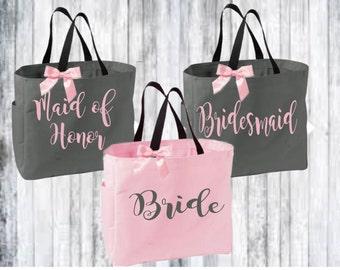 bridal totes, bridesmaid tote, monogrammed tote, monogrammed bag, bridesmaid gift