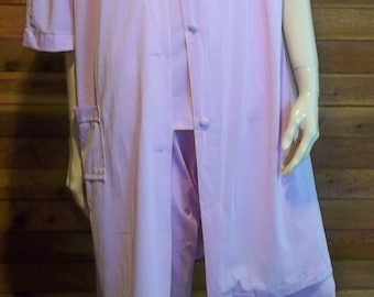 Vintage Lingerie 1960s LORRAINE Lavender Pajama and Robe Set Large