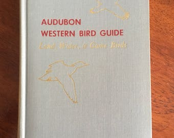 First Edition Audubon Western Bird Guide Book 1957 Colored Plates