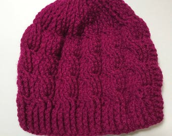 Crochet cable knit like