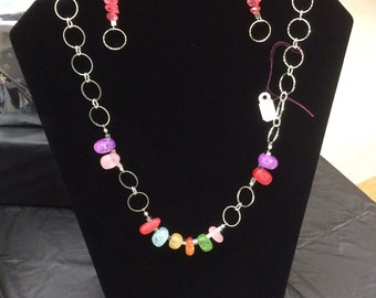 Circles and Baubles  necklace and matching earrings