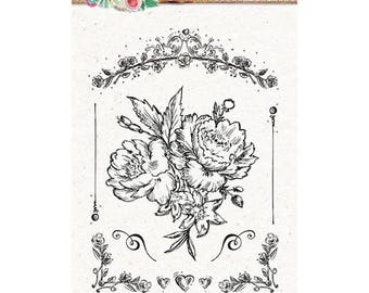 A6 Bouquet Sweet romance - STAMPSR128 clear stamp