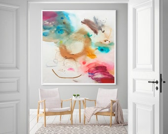 Large abstract original painting, mixed media large wall art, large painting on canvas, abstract painting original, large modern painting
