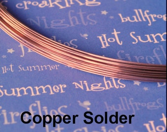 Copper Solder Wire 18 gauge, Copper Color Match 5 feet