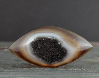 Excellent natural  druzy agate cabochon S7410