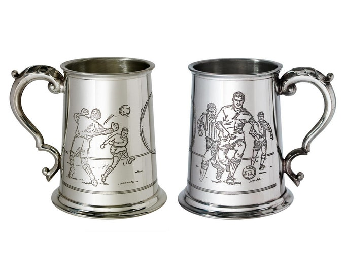 Personalised Sports Scene 1 Pint Pewter Tankard Customised Engraved Message