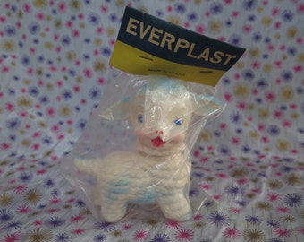 Edward Mobley, Sheep, Everplast, Made in Italy, squeak toy, mint in package