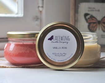 PICK 2 Soy Candles - 11 oz Glass Tureen Jars - Hand-Poured/Strong/Natural