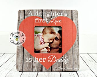 ON SALE Gift For Daddy, A Daughter's First Love Is Her Daddy, First Father's Day Gift, Father's Day Gift, Daddy Daughter Gift, Gift for Dad