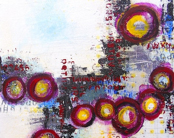 What Matters Most-abstract art patterns original art collage mixed media painting contemporary art