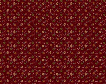 Yardage, Buttermilk Basin by Stacy West, Henry Glass Fabrics, Red Calico Flowers, Traditional Quilt, Reproduction Fabric, Civil War Fabric