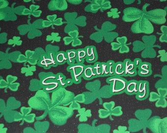Happy St. Patrick's Day Fabric