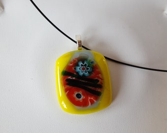 Pretty Yellow Glass Pendant