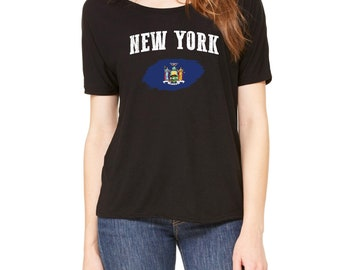 New York City New York Womens Shirts Slouchy