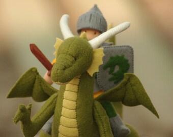 Dragon, Waldorf Dragon, Waldorf Michaelmas Dragon, Dragon plush toy, Fairy tale creature, Waldorf Dragon toy, Eco friendly toys, Soft animal