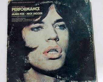 Performance Original Motion Picture Soundtrack Vinyl LP Record Album BS 2554