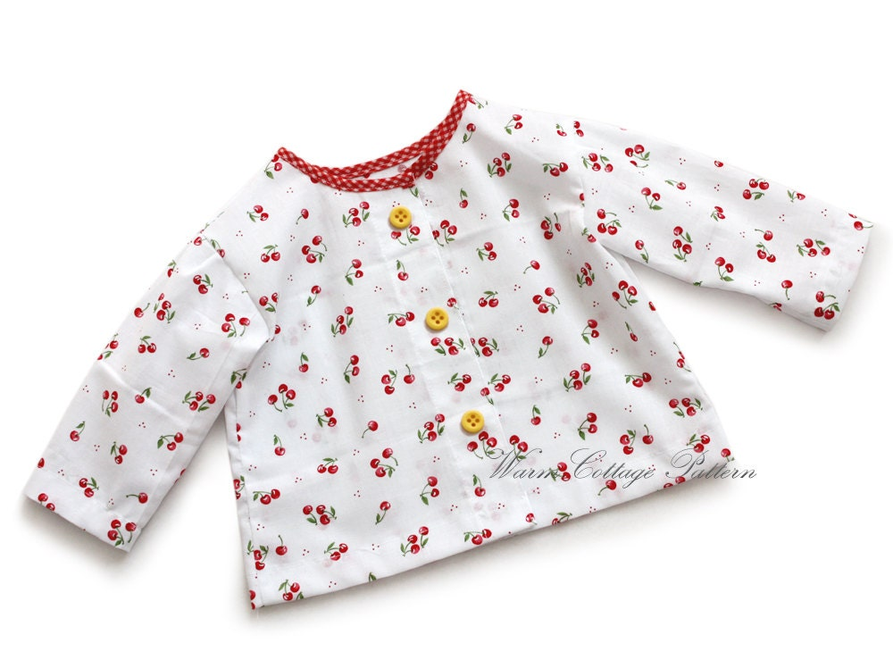 Baby shirt/blouse pattern sewing easy toddler baby girl and