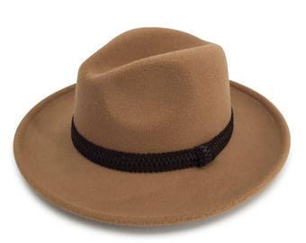 Alpas Unisex Poly-Cotton Fabric Blend Fedora Hat FY-014