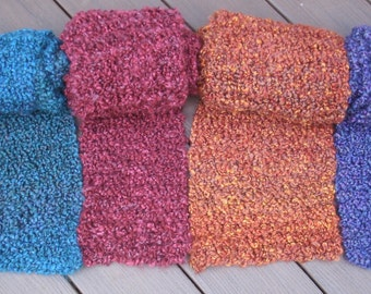 Soft Knit Scarf- Choose Traditional Scarf, Infinity Scarf or Cowl Scarf- Hand Knit Scarf- Chunky Knit Scarf- Mens Scarf- Womens Scarf
