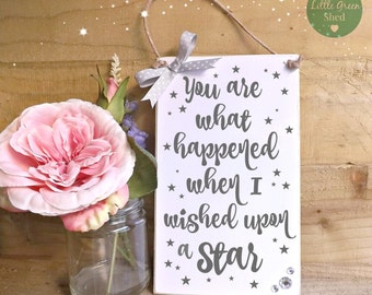 Engagement, Baby, Wedding Inspirational plaque Sign Shabby Chic Keepsake
