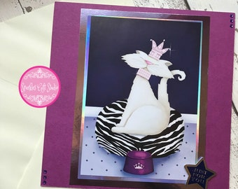 Handmade 'Just For You' Greeting Card