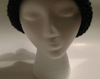 Charcoal Gray Adult Knit Hat - Charcoal Gray Adult Knit Beanie - Gray Knit Hat