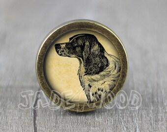 Dog Glass Cabochon Bronze Cabinet Dresser Knobs Pull / Dresser Pull / Cabinet  Knobs / Furniture Knobs