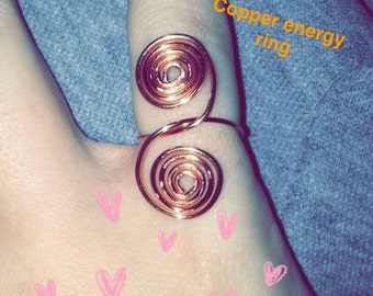 Spiral Copper Energy Ring