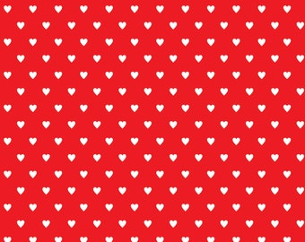 White Hearts on Red Paper Digital Download