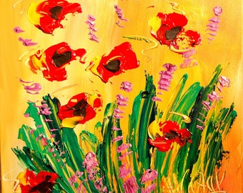 FLOWERS Mark Kazav on stretched canvas