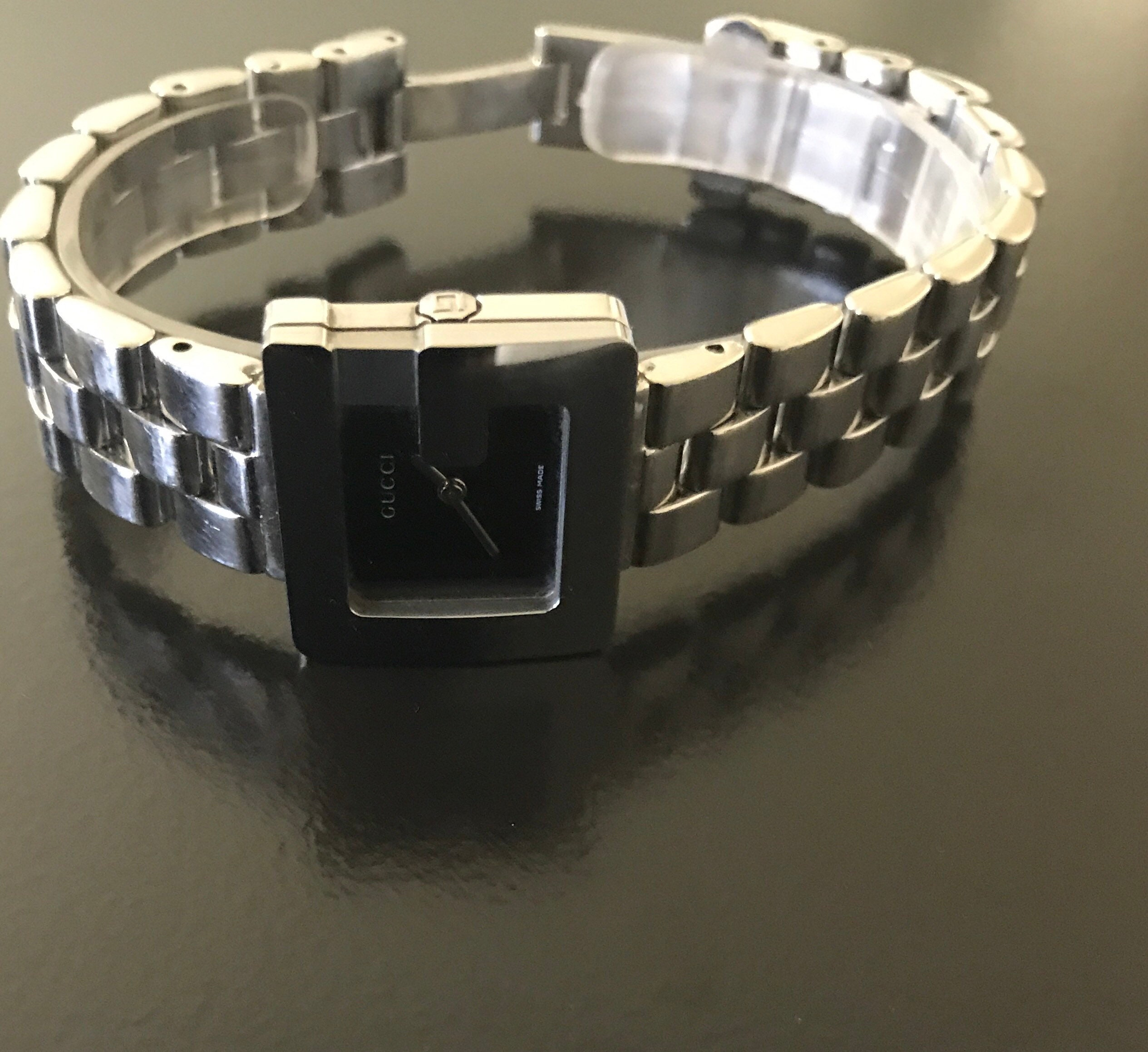 c18b6445321 Gucci beautiful 6 1 2 women s silver link