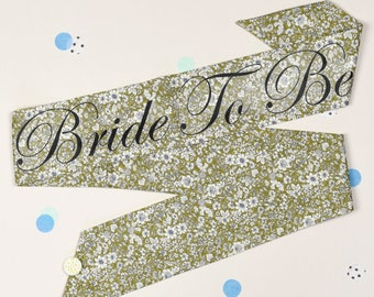 LIMITED EDITION Green Vintage Style Hen Party Sash - Classy Alternative Hen Do / Bridal Shower /  Bachelorette - as seen in Mollie Makes