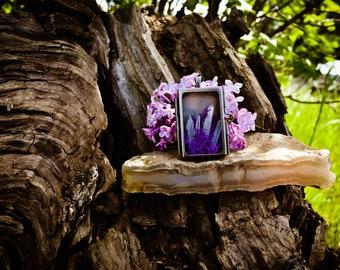 Lovely Locket   Purple & White - 131