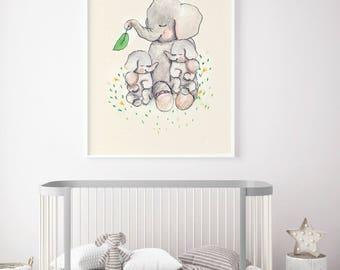 Twins Mothers love - PRINT - Nursery art - Nursery decor - Kids room decor - Children's art - Children's wall art - kids wall art
