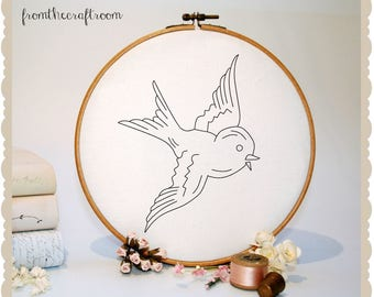 Bluebird Hand embroidery pattern pdf download