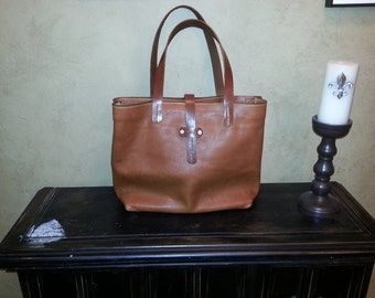 The PR Large Leather Tote