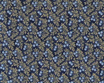 Anns Arbor Cream Navy 14844 14 - Moda Fabrics 100% Cotton Quilting Fabric by Minick and Simpson